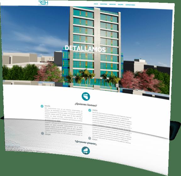 Pagina web REH Construcciones